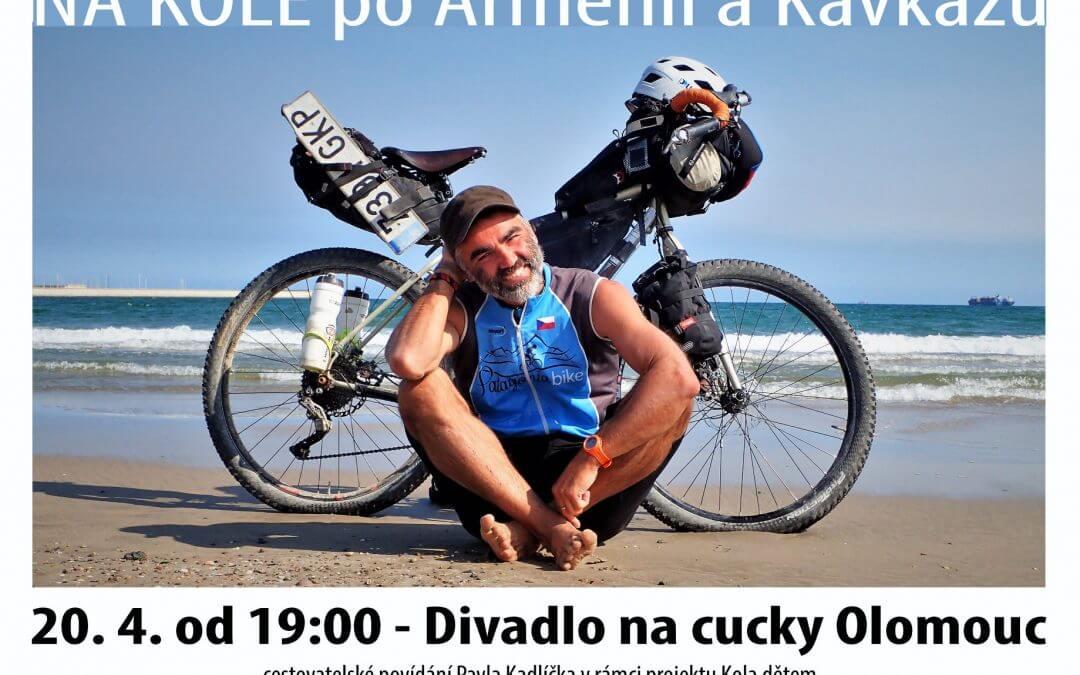Dnešní zastávkou Tour Kola Dětem 2018 je Divadlo na cucky Olomouc