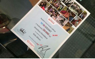 Oslavili jsme získání dalšího grantu od Nadace Veolia
